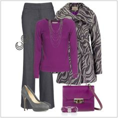 CHATA'S DAILY TIP: Top fashion editors predict that purple will be back in various shades from light to bright this upcoming summer season. This gorgeous colour co-ordinates perfectly with basic colours such as black and navy; why not try it with grey – just as classic, and just as powerful. COPY CREDIT: Chata Romano Image Consultant, Willene Sieberhagen http://chataromano.com/consultant/willene-sieberhagen/ IMAGE CREDIT: Pinterest #chataromano #imageconsultant #colour #style #fashion