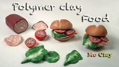 Mortadella Sandwiches Polymer clay tutorial by MoClay- Collaboration with Sandrartes - miniature food