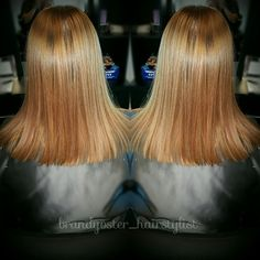Very soft and sleek! Honey red with a touch of lightness! Stylist: Brandy Oster