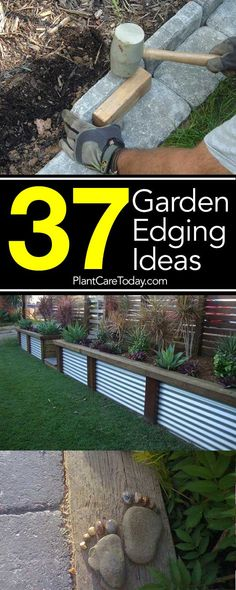 Garden edging ideas add an important landscape touch. Find practical, affordable… Garden edging ideas add an important landscape touch. Find practical, affordable and good looking edging ideas to compliment … Landscape Edging Stone, Landscape Borders, Lawn And Landscape, Landscape Plans, Landscape Design, Landscape Art, Landscape Paintings, Concrete Garden Edging, Japan Landscape