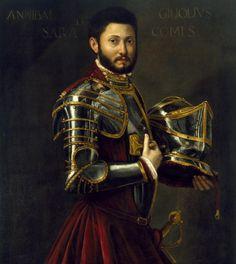 """Ambito Italiano, """"Ritratto di cavaliere"""", Olio su tela, XVI secolo, The Museum of Fine Arts, Houston."""
