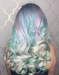 20 Cotton Candy Hairstyles That Are as Sweet as Can Be Light Pastel Teal And Pink Hair The post 20 Cotton Candy Hairstyles That Are as Sweet as Can Be appeared first on Do It Yourself Diyjewel. Teal Hair, Bright Hair, Pastel Hair, Vivid Hair Color, Cool Hair Color, Hair Colors, Dye My Hair, Pelo Multicolor, Cotton Candy Hair