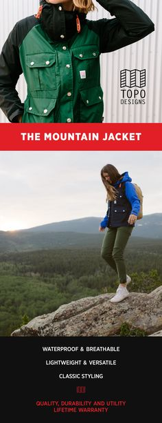 The packable, waterproof Mountain Jacket keeps you dry whether on the slopes or on your morning commute in the rain. Lightweight with a trim fit it'll quickly become your all-season staple.