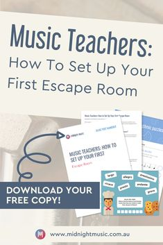 Looking for something fun to do with your students? Escape rooms make introducing topics, reinforcing learning and teaching concepts engaging and fun for students. Learn how to set up your first escape room for your music classroom. Music Teachers, Music Classroom, Music Education, Physical Education, Health Education, Education Quotes, Teaching Orchestra, Piano Teaching, Student Teaching
