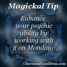 Magickal Tip - Psychic Monday – Charissa's Cauldron
