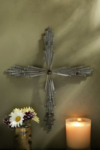 Jeweled Steel 45 Nail Cross