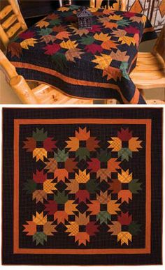 Autumn Leaves Flannel Wall Quilt