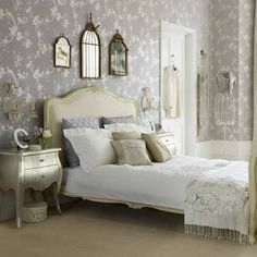 vintage glamour | Vintage glamour bedroom | Bedroom ideas | Wallpaper | housetohome.co ...