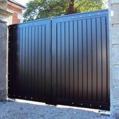 Steel Gate Design, Iron Gate Design, House Gate Design, Gate House, Fence Design, Metal Driveway Gates, Metal Garden Gates, Front Gates, Entrance Gates