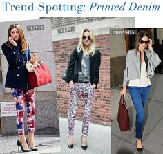 Printed jeans on great bodies are totally whats hot for this season's trends