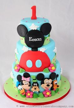 Mickey Mouse Club House and Friends 1st Birthday Cake @Shannon Bellanca Bellanca Walker