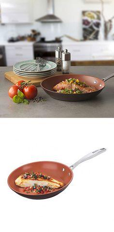 "Bialetti Terracotta Xtra Non-Stick Saute Pan, 11"", Brown"