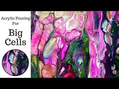 Big Cell Acrylic Pouring Demo - YouTube