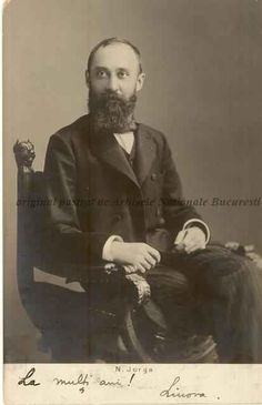 BU-F-01073-5-00049-1 Nicolae Iorga, istoric român, 1905-1913 (niv.Document) History Of Romania, Interesting Reads, Historical Pictures, Old Pictures, Famous People, Culture, Reading, World, Bass Drum