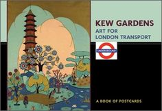 If you ever visit Kew Gardens you'll be blown away by the famous 'ten-story Pagoda. Here it is in it's glory on the cover of this Postcard Book. The thirty images in this book are from the London Transport Museum, one of the finest poster archives in the world.