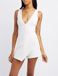 e664b239c8e1 Plunging Wrap Front Romper Dress Collection