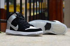 Nike Dunk High Pro SB Black Silver [nikedunk-1010] - $63.99 :   nike air max,nike shoes,air force 1,roshe run,   Scoop.it