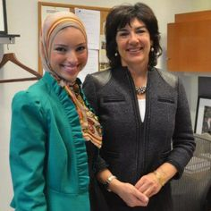 Christian Amanpour with Noor Tagouri