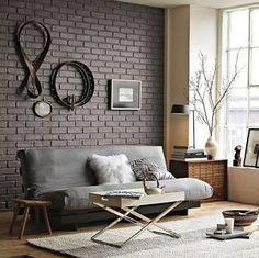 Resultado de imagem para parede tijolos a vista branco