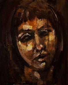 """""""Autoportret"""", technika mieszana na płycie. #art #painting #selfportrait"""