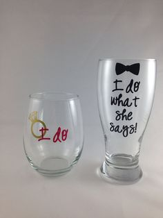 Stemless Wine and Pilsner Glass: Personalized Engagement Gift, Bridal Shower Gift, Engagement Party Gift, Future Mrs on Etsy, $24.00