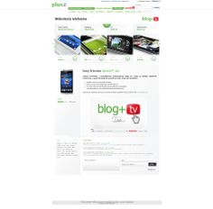 Projekt podstrony projektu Blog+TV