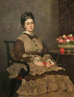 Valentine Cameron Prinsep - Mrs Oliver Ormerod Walker, née Jane Harrison