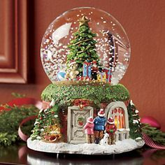 This is one of the most awesome snowglobes I've seen. Lighted Christmas Musical Snow Globe from Montgomery Ward® Christmas Snow Globes, Christmas Holidays, Christmas Decorations, Xmas, Christmas Ornaments, Christmas Music Box, Snow Globe Crafts, Diy Snow Globe, Musical Snow Globes
