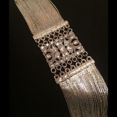 """Vintage Elegant Silver & Clear Rhinestone Bracelet Truly timeless elegant silver-tone finish bracelet with multiple fine strands, clear rhinestones, and adjustable chain. Lobster clasp lock in excellent working order - all stones are present & intact. Measures 7.5"""" with full chain 2"""" extension. Vintage Jewelry Bracelets"""