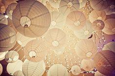 Christmas Lights above the Lanterns