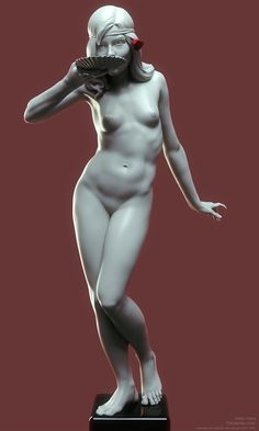 ZBrush creation by Fabio Paiva. Based on a piece by the american sculptor Edward McCartan (1879–1947). #ZBrush #sculpture