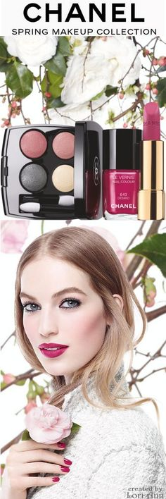 Chanel Spring 2015 Makeup Collection - Eyes: Tisse Paris - Nails: Désirio - Lips: La Romanesque