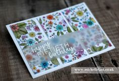 See how to create an easy panel card using brand new products from the new spring and summer seasonal catalogue and get free products during saleabration