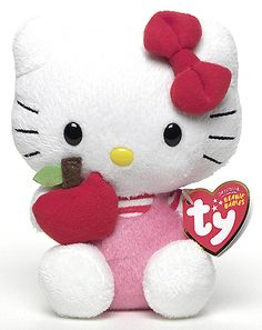 Hello Kitty (red apple) - Cat - Ty Beanie Babies