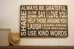Family Rules Wood Sign Reclaimed Wood Sign by RusticlyInspired