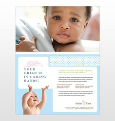 infant care and babysitting flyer template design by stocklayouts