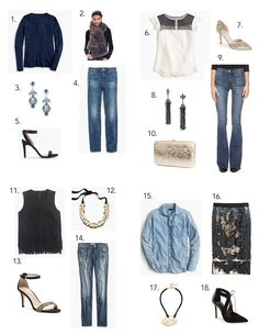 Fashion Friday: Fancy Denim for Holiday | elements of style | Bloglovin'