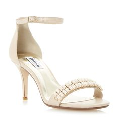 DUNE LADIES MATILDE - Two Part Embellished Heeled Sandal - nude | Dune Shoes Online