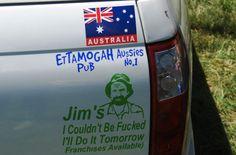 Australian bumper sticker