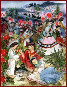 Un collage de tradiciones navide as mexicano pinterest for Cuadros mexicanos rusticos