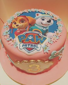 "Paw patrol birthday cake for a girl Skye and Everest cake for girls 7 Likes, 1 Comments - abby parkhouse (@sprinklekitchen) on Instagram: ""Paw patrol 3rd birthday cake! Love the pastel colours! #cakedecorating #baker #marshmallowflavour…"""