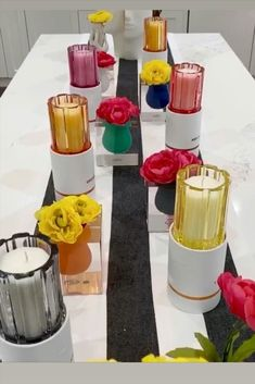 Looking to add a pop of color to your dining room tablescape? Check out this colorful candle collection by Thompson Ferrier called bubble crush! These rainbow glass jars are the perfect accessory to style your living room with. Place a couple around the house to fill your home with color and light them to enjoy some aromatherapy. #ThompsonFerrier @black_door_design Bubble Crush, Wedding Gift Inspiration, Living Room Essentials, Rainbow Glass, Black Door, Elegant Dining Room, Luxury Candles, Inspirational Gifts, Door Design