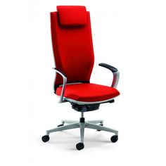 Moteo Executive Office Chairs by Jorg Bernauer are a sophisticated ergonomic office seating solution with high backrests and advanced back support technology.