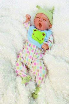 Cute Lion Print Romper Jumpsuit Hat Set for 50cm Reborn Baby Girl Doll