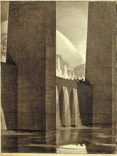 The metropolis of tomorrow – Hugh Ferriss | Graphicine