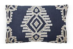 Templeton by Michael S. Smith, Tikal 12x18 Pillow, Indigo 149 - orig. 300