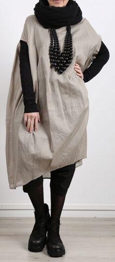 rundholz - Kleid in Ballonform Cotton Oversize desert - Sommer 2017