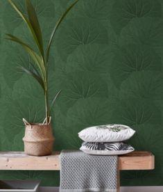 Tapet Tapetcompagniet Store Blade - Grøn Plant Leaves, Stockholm, House Ideas, Bathroom, Plant, Washroom, Bathrooms, Bath