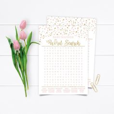 Printable Gold Confetti Baby Shower Game, Gold Pink Blush Baby Shower Word Search Game, Confetti Baby Shower Word Search INSTANT DOWNLOAD Baby Shower Wording, Baby Shower Games, Word Search Games, Beautiful Baby Shower, Gold Confetti, The Perfect Touch, Blush Pink, Card Stock, Diy Projects