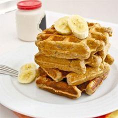 Roasted Banana Bread Waffles